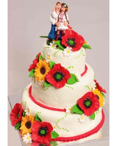 """Торт """"Весільний"""" №151"""