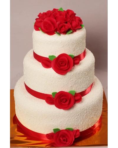 """Торт """"Весільний"""" №163"""